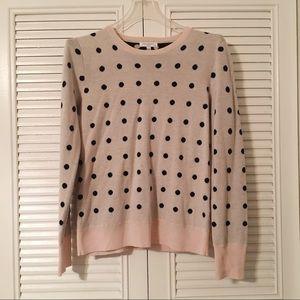 EQUIPMENT polka dot crew neck sweater